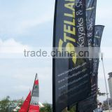 factory price beach flag poles with printing
