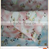 Cotton printed baby muslin fabric