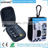 APEXEL OEM camera lens kit 0.63x Wide Angle +15x Macro+198 fisheye+2x Zoom+CPL Filter 5 in 1 lens for iPhone iPad Samsung HTC