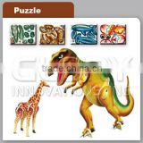 3D Dinosaur Puzzle Printing Card With Plastic Material