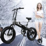 2016 china manufactory cheap lithium 48v 350w 8fun motor folding snow fat tire electric bike electric bicycle