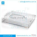 Top sale Buffet Supplies Acrylic Banquet Wedding Serving Tray