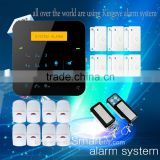 Quad-band GSM communication support English/Spanish/Russian language personal attack alarm via app