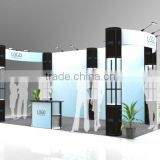 Eye Catching Wrinkle Free Fabric Full Color Exhibition Booth Exhibition Display Equipment