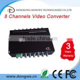 8 channels digital fiber optic cctv video converter, Single Mode, FC connector, 20KM, RS485 ,RS232 Hot sales!