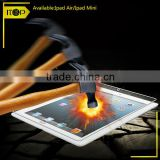 factory supply 2.5D for ipad air tempered glass screen protector with retail package