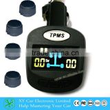 Wireless 4 sensors tyre pressure monitoring system ,cigar lighter tire pressure gauge ,tpms XY-TPMS403E