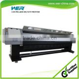 Hot selling 3.2m WER P3208 allwin solvent printer, spare parts polaris print heads solvent printer