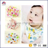 100% Organic Cotton Double Sides Design Absorbent Bandana Drool Various Styles Cute Baby Bibs