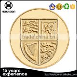 Rich experienced 3d design die struck copper pure gold plating smooth edge custom souvenir challenge coin factory