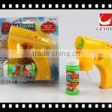 factory supply solid color bubble gun with 1 bottle bubble water