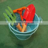 Set of 5 Gardeing Playtoy tools/Safe Childrens' Day Gift/Holiday Promotion/Small Bucket/Metal Flower watering Tin Pot