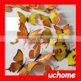 UCHOME Adhesive 3d Butterfly Tattoo Sticker Dome Stickers Custom 3d Dome Sticker Made In China