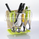 stainless steel big apple type shelf knife holder knife rest BSL-B051
