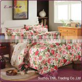 New design pretty oem beautiful bedclothes and washing cotton bed linen freshness bedding set EML-12-W1001