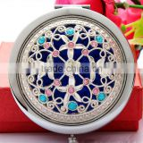 Noble Silver Hollow COMPACT MAKE UP/Handbag MIRRORS, Retro Compact/Travel/Pocket ILLUMINATED Beauty Make Up Mirrors New