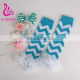 2016 Baby Leg Warmers Chevron Double Ruffle Leg Warmers Kids Leg warmers Newborn Ruffle Leggings Boy's Girls' Legging Wholesale