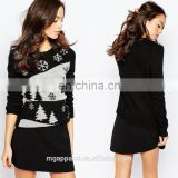 Wholesale Stretch knit christmas sweater Christmas Tree Knitted Christmas Jumpers With Sequin Detail