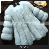 Custom color lady fox fur outer coat winter warm women fur coat