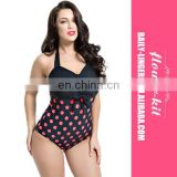 Women's Swimwear High Waist Halter Neck Bodysuit Plus Size Beach One Piece Swimsuit