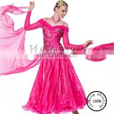 B-1086 Proffesional Custom Newest Lady Ballroom Dance Dress Standard Competition Ballroom Dance Dress