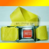 Top classic yellow belt for man, car buckle style