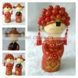 cutom wooden Chinese new couples Chinese couple dolls Chinese wedding couple dolls