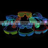 2017 el equalizer glasses light up glowing good quality shutter party el wire Glasses