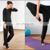 Activewear ! Sports Casual Yoga Fitness Leggings Trouser / Tights With Spats / Extra Long Leggings / Black Pant / Dance yoga wea