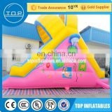 Professional inflatable bouncy castle with water slide tobogan inflable kids playground plastic slides made in China