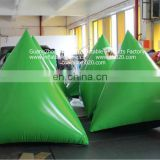 Best selling commercial paintball triangle airsoft inflatable x bunker x x