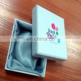 Logo UV Effect Hat Box With Lid For Bacelet With Stain Cloth Inner Tray