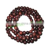 Rosewood Beads String (mala) made of fine quality handmade 8mm round rosewood beads
