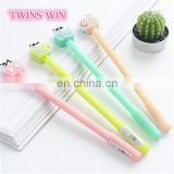 manufacture china School supplies kids fancy stationery wholesale best price plastic color gel pen cartoon cute
