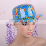 Wholesale Colorfull Plastic Hat with Wig