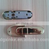 Mirror polished metal steel gold plated forge casting door knocker