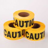 black yellow plastic Hazard warning tape/caution tape/underground warning tape