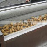 Factory Price Automatic Cassava Potato Carrots Ginger Root Vegetable Washing Peeler Machine