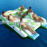 2016 inflatable water floating lounge for resting,popular inflatable floating island for sale
