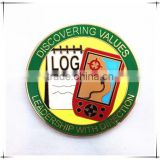 Discovering values Geocaching & Scouting wholesale challenge coin gold coin custom challenge coin