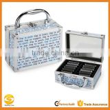 Custom colorful ALUMINUM barber tool case, acrylic hair stylist beauty cases, aluminum travel carrying case