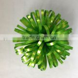 "3.5"" Green PET Fancy Ball Shape Gift Flower Packing Ribbon Bow for Gift /holiday packing"