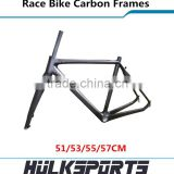 High-end 3K/UD carbon cyclocross frames V-brake race bike carbon frameset 51/53/55/57CM full carbon road bike frame