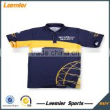 cheap price 1/4 Zipper Custom made racing crew team shirt