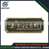 new product made in china promotion brass metal logo plate, metal tags for furniture