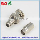 solderless 2 Piece Set BNC male quick crimp type RF coaxial connector for RG174 1.5D-2V RG316 wire cable