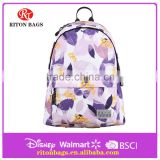 Girl's School Backpack 600D with Printing Pattern Backpack Bag for High School Students