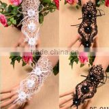 New design stylish jewelry steampunk gothic lace sleeve bracelet and ring jewelry set wholesale
