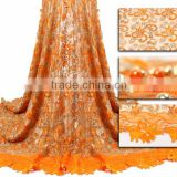 Mitaloo New Designs French Net Lace Fabric with Beads For Wedding Party Dress MFL1162