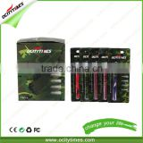 Rainbow colored Ocitytimes 280mah e-cig with manual battery Slim Disposable E Cigarette 300puff